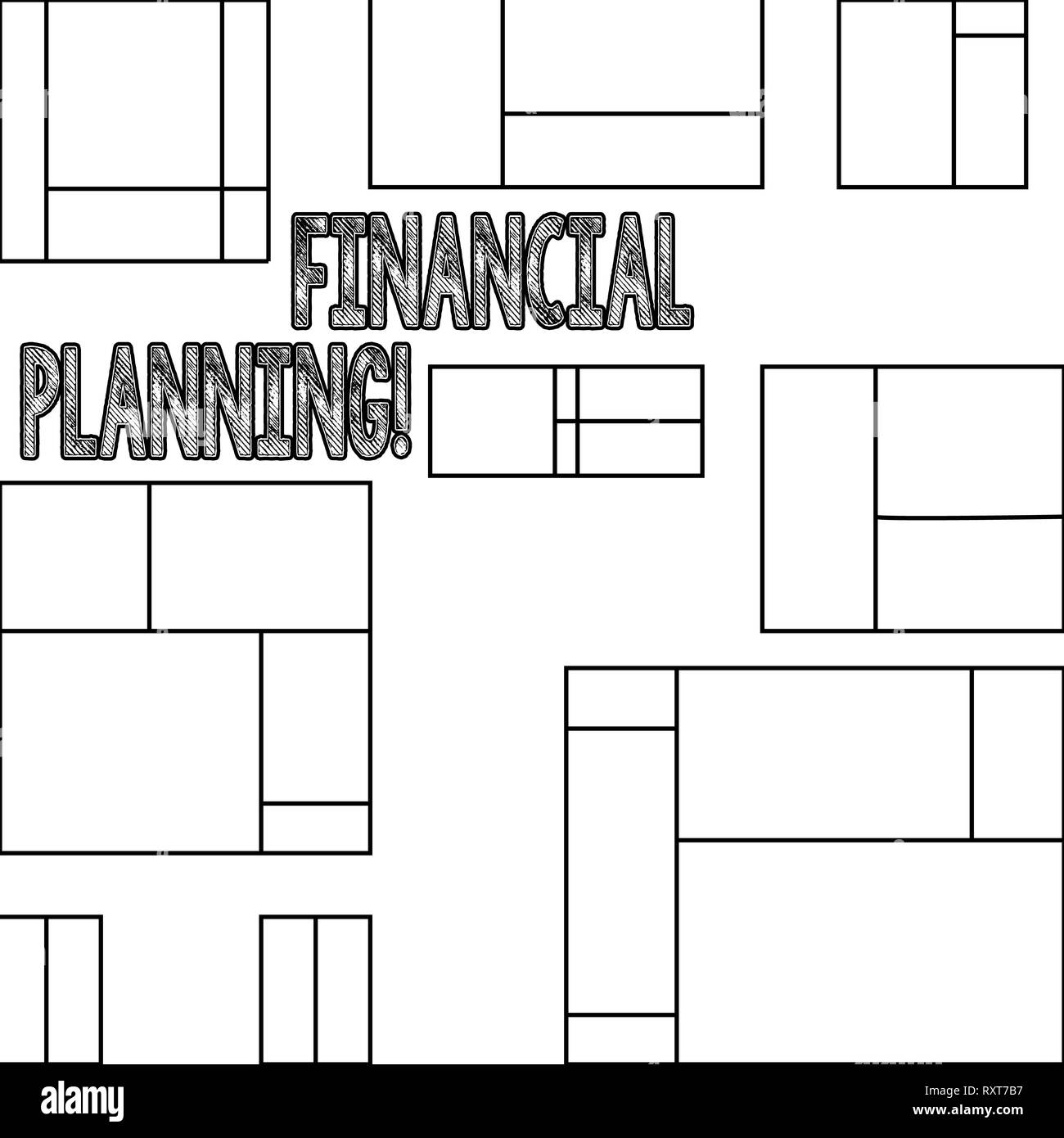 Handwriting text Financial Planning. Conceptual photo Accounting Planning Strategy Analyze - Stock Image