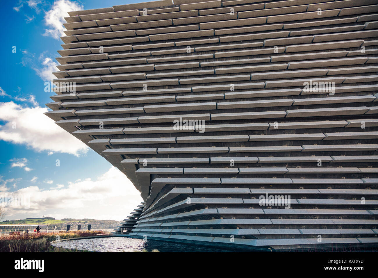 A sectional view of the stunning V&A Museum in Dundee designed by world famous architect Kengo Kuma - Stock Image