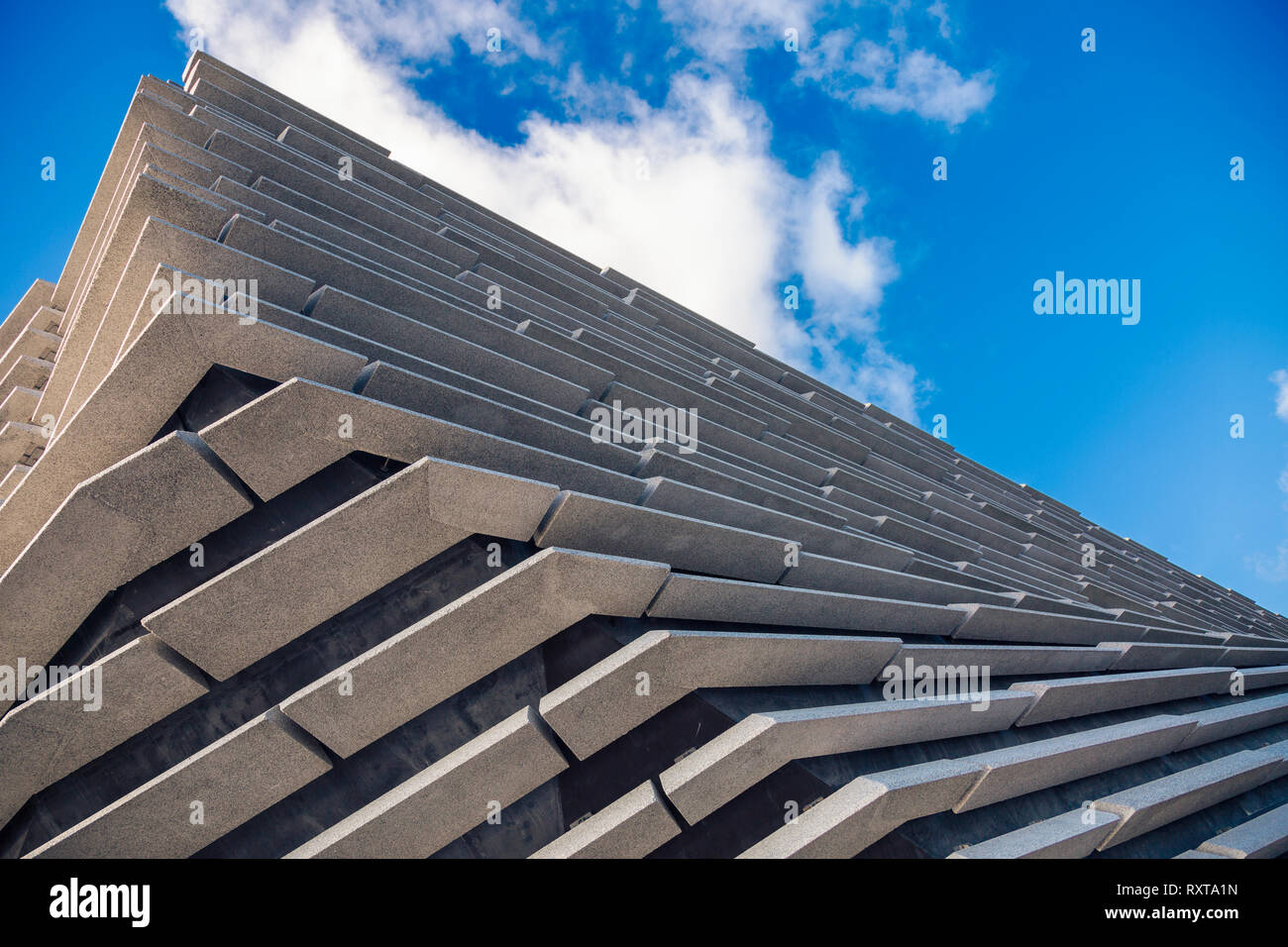 A sectional view of the stunning V&A Museum in Dundee designed by world famous architect Kengo Kuma Stock Photo