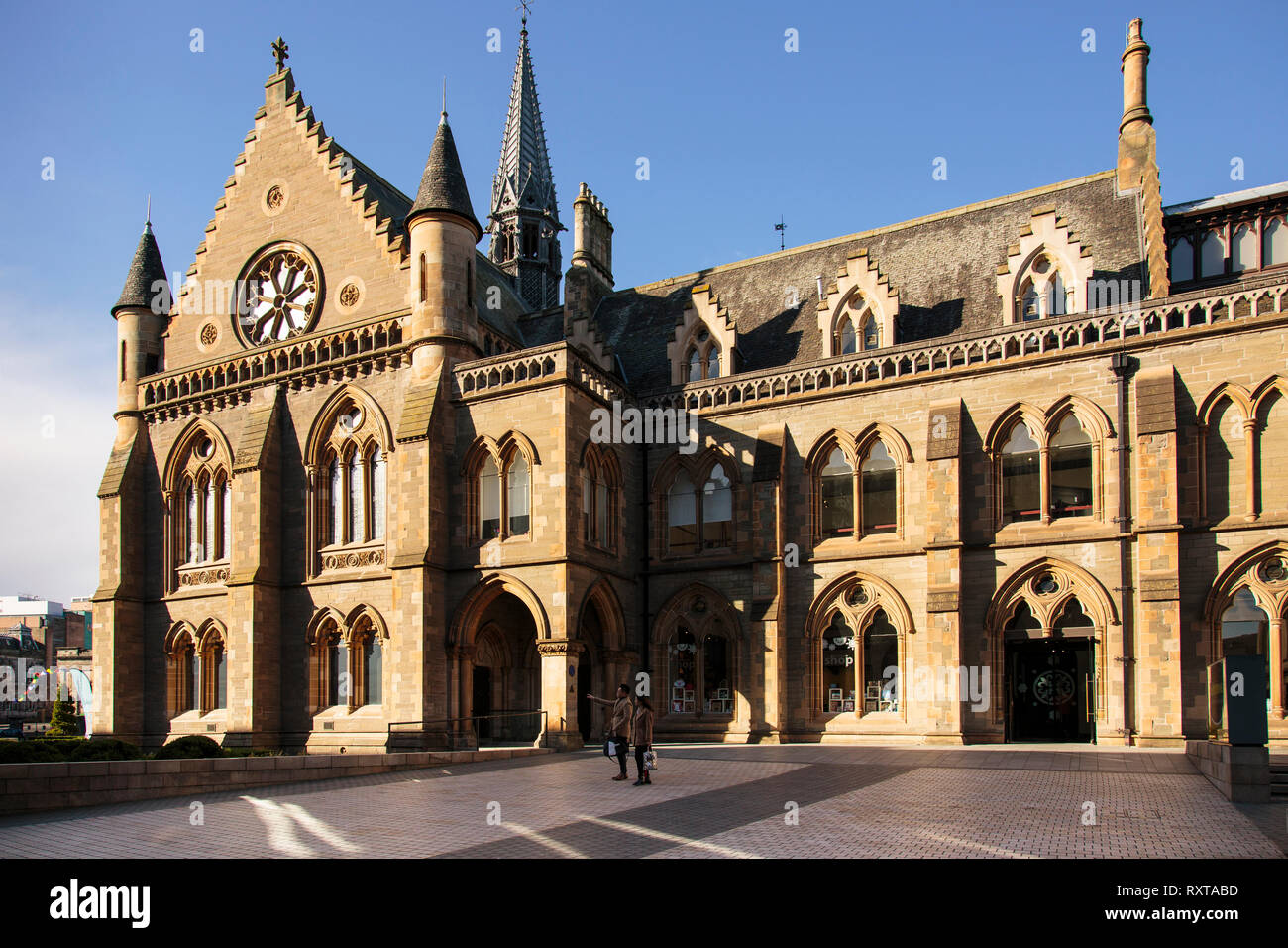 The McManus Art Gallery & Museum in Dundee caught in evening sunlight - Stock Image