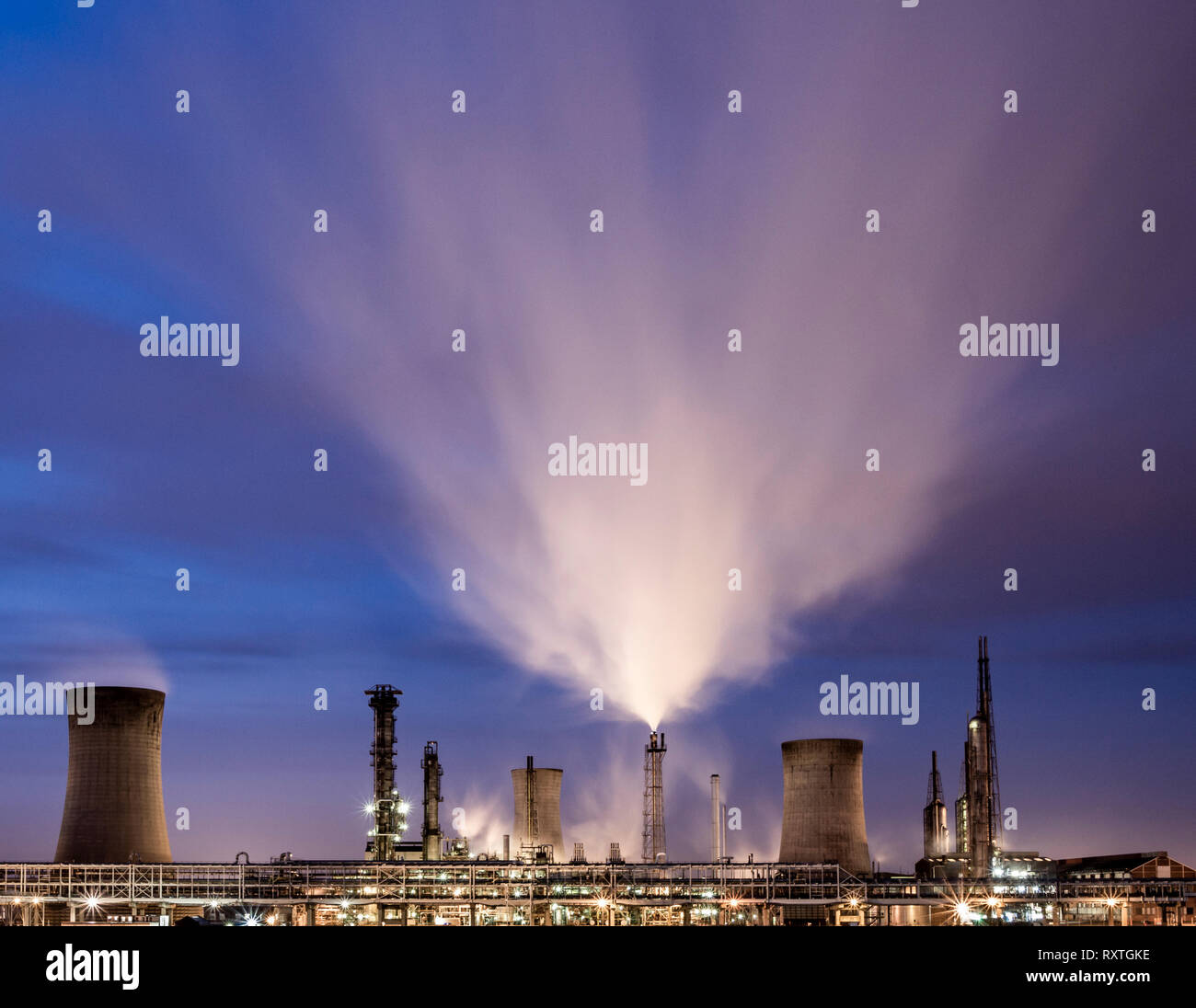 Chemical plant at the former ICI site in Billingham. UK - Stock Image
