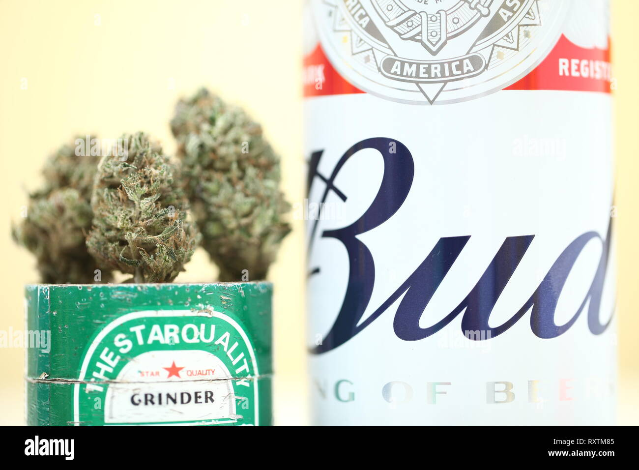 Budweiser Can Stock Photos & Budweiser Can Stock Images - Alamy