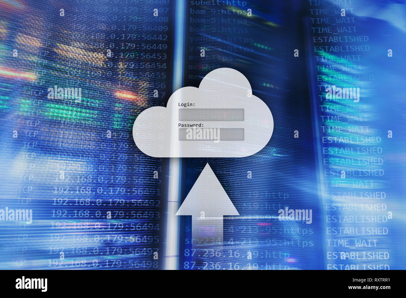 Cloud storage, data access, login and password request