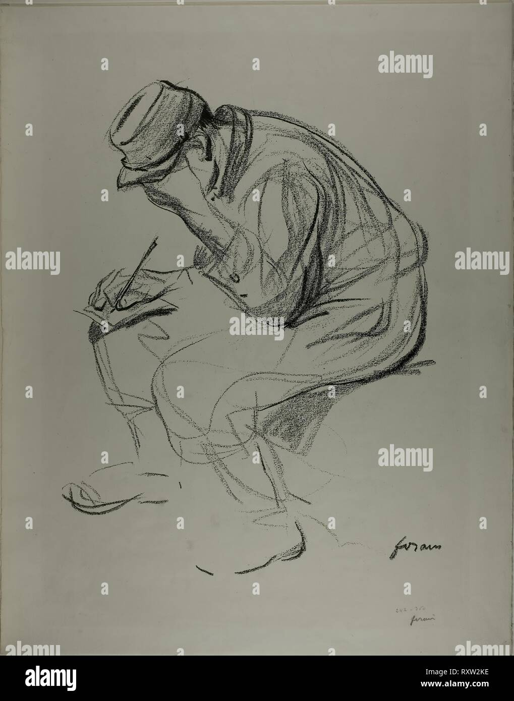 The Clothing of the Prisoner of war. Jean Louis Forain (French, 1852-1931); printed by Champenois, Paris. Date: 1910-1920. Dimensions: 705 × 556 mm. Lithograph on ivory wove paper. Origin: France. Museum: The Chicago Art Institute. - Stock Image