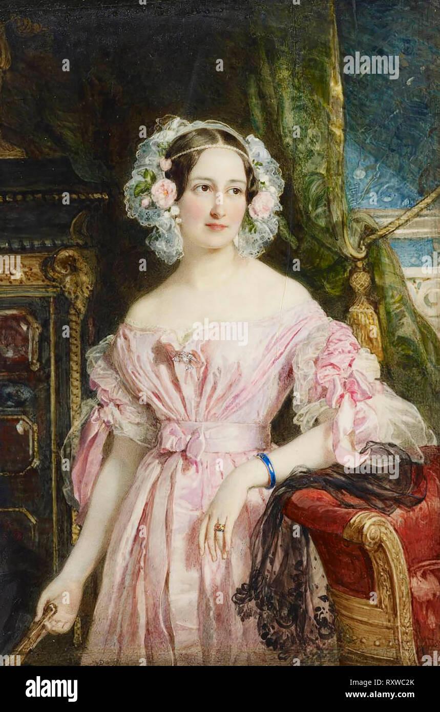 Princess Feodora of Hohenlohe-Langenburg (1807-1872) - William Charles Ross, circa 1838 - Stock Image