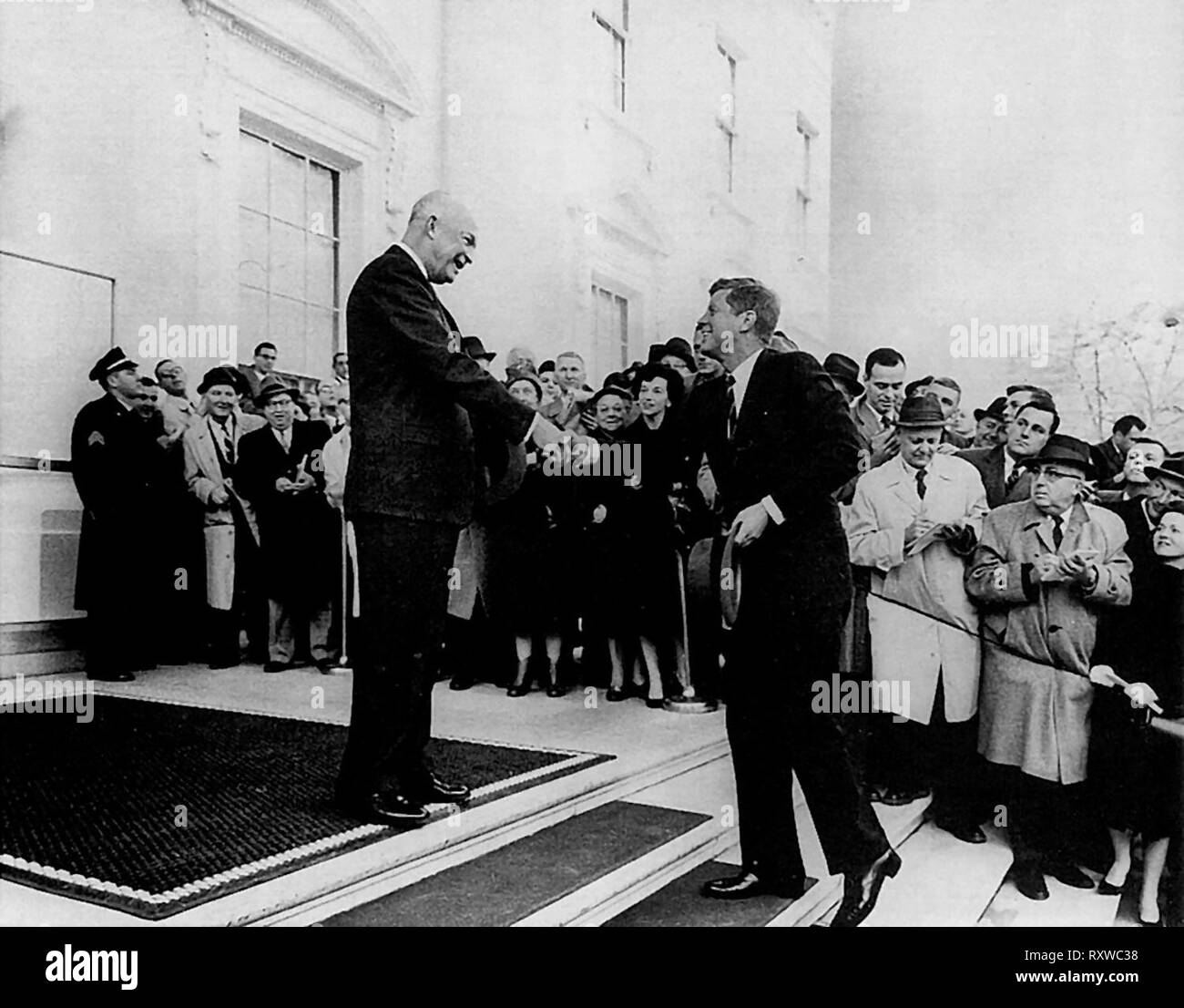 Eisenhower and President-elect John Fitzgerald Kennedy  - December 6, 1960 - Stock Image