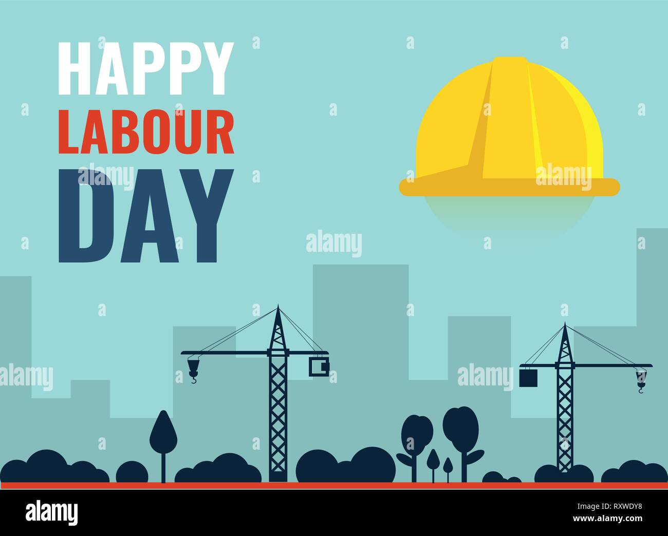 1st May International Labour Day Vector Banner Template. - Stock Vector