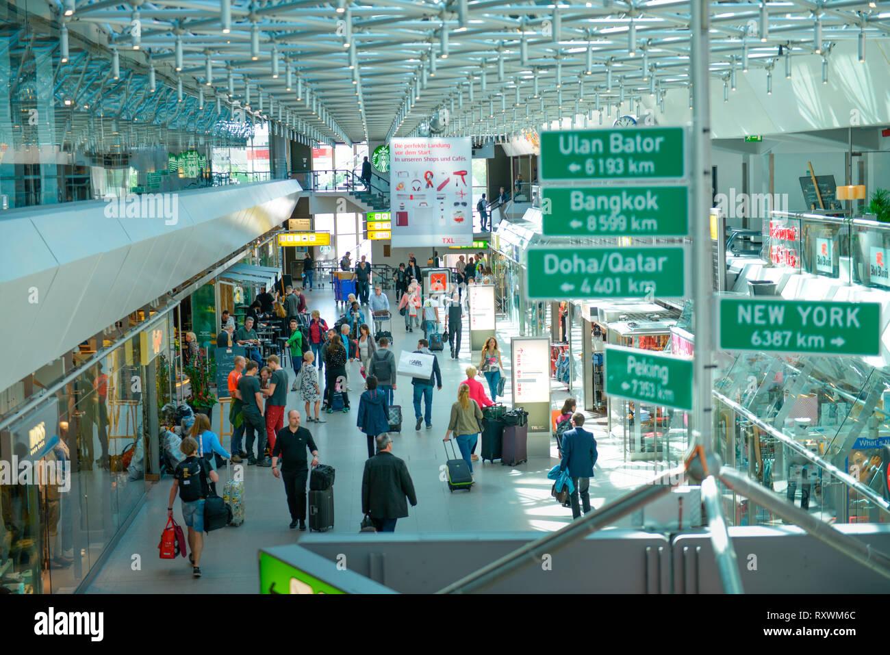 Terminal A, Flughafen Tegel, Reinickendorf, Berlin, Deutschland - Stock Image
