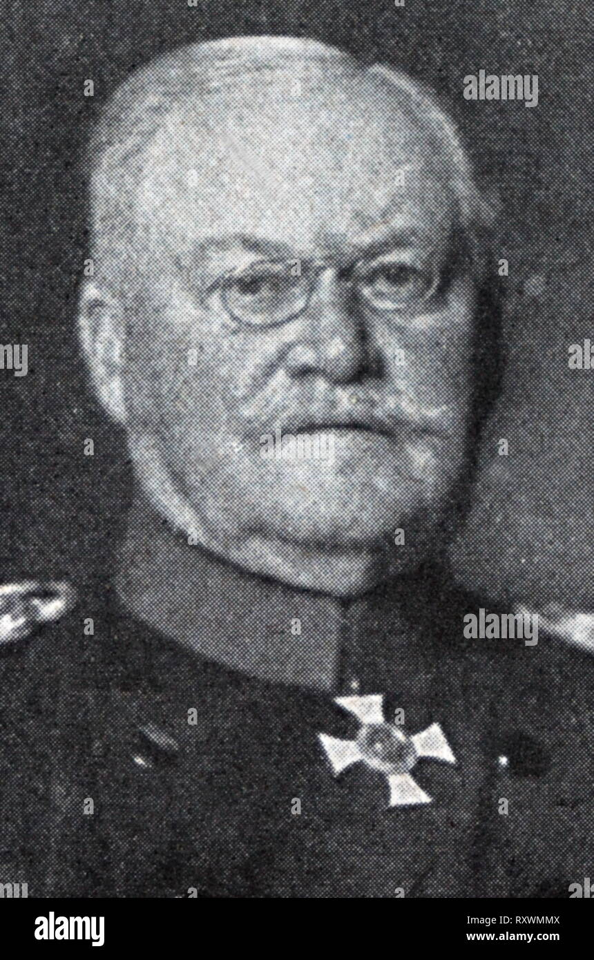 Maximilian 'Max' Wilhelm Gustav Moritz von Prittwitz und Gaffron (1848 - 1917) Imperial German general. He fought in the Austro-Prussian War, the Franco-Prussian War, and briefly in the First World War. - Stock Image