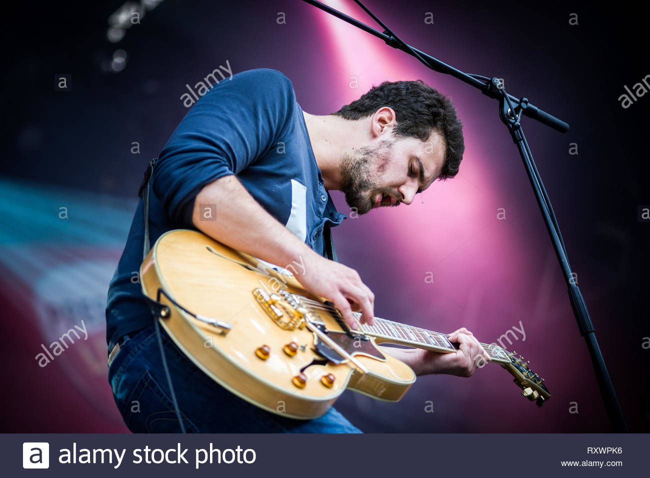 TULSA (French band) performing live, 13 july 2014 Stock Photo