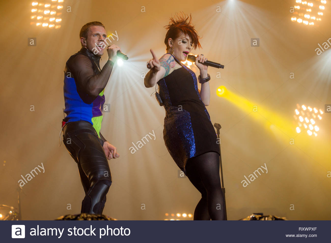 SCISSOR SISTERS (Jake Shears & Ana Matronic), 14 july 2011 Stock Photo
