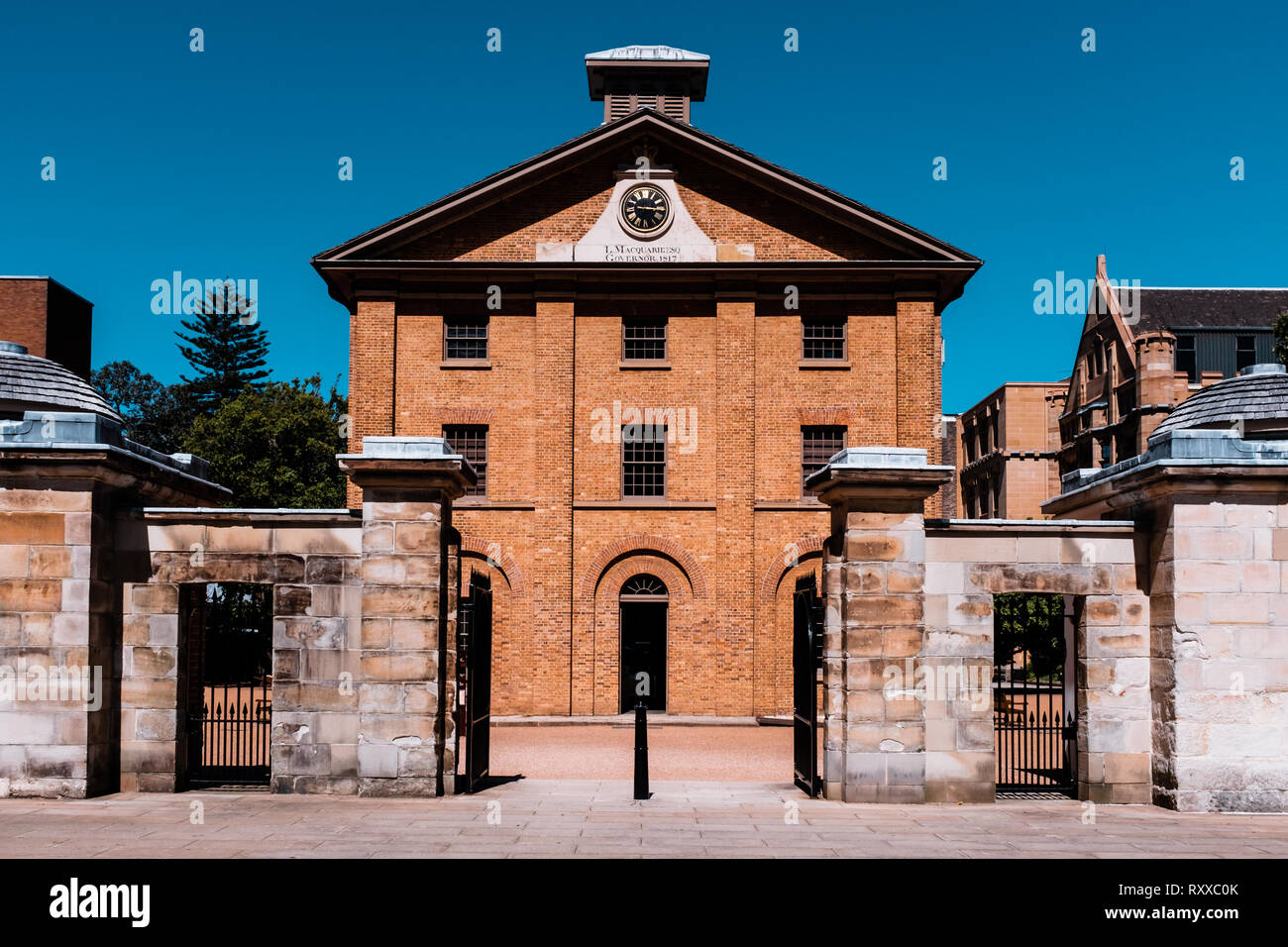 Hyde Park Barracks Museum, Macquarie Street, Sydney, New South Wales, Australia. This is a former prison housing convicts - Stock Image