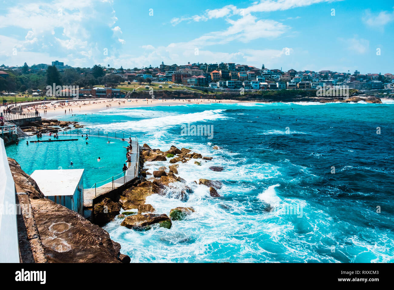Bondi to Coogee walk in Sydney, New South Wales, Australia Stock Photo