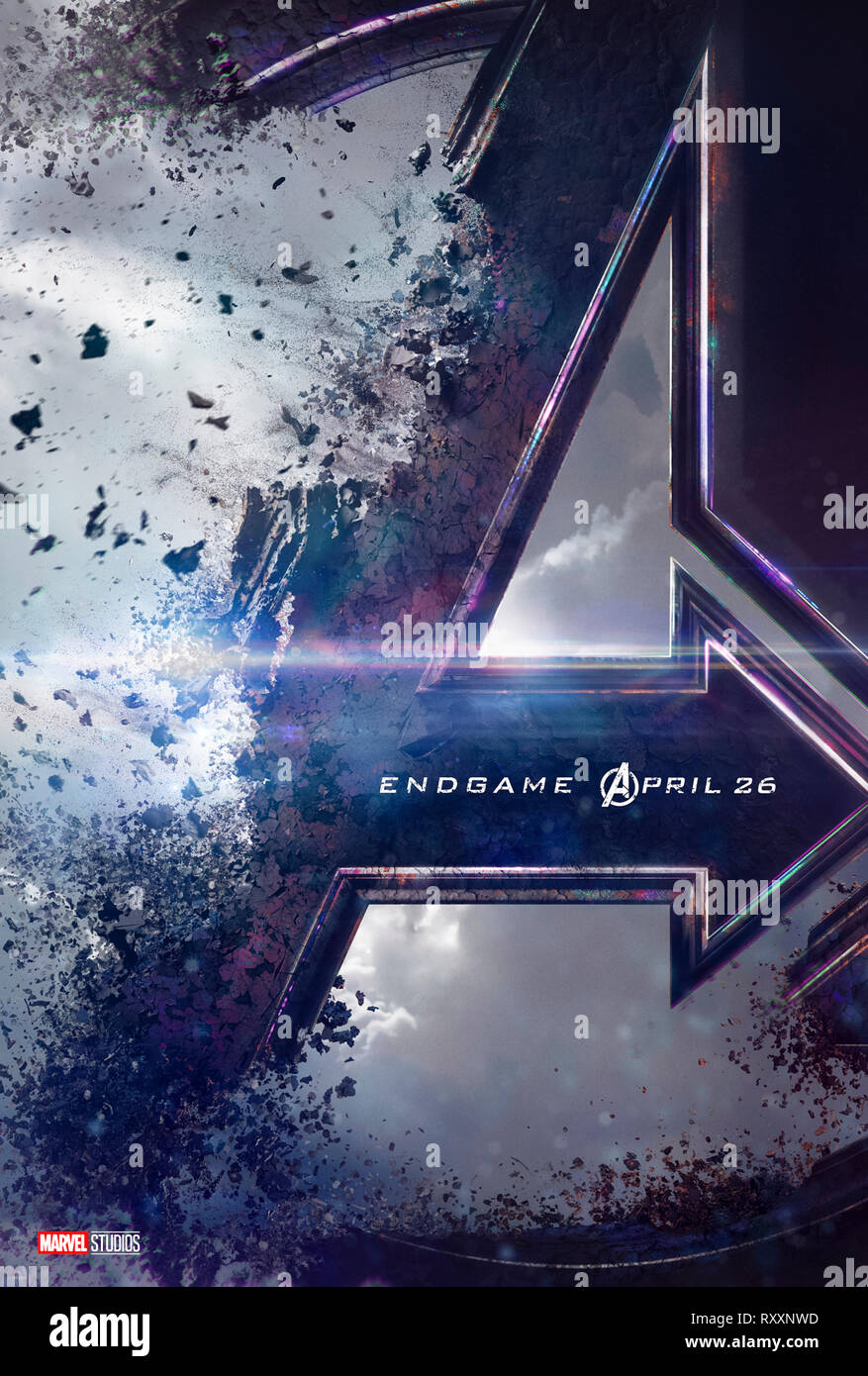 Avengers: Endgame (2019) directed  by Anthony and Joe Russo, starring Bradley Cooper, Brie Larson and Chris Hemsworth. - Stock Image