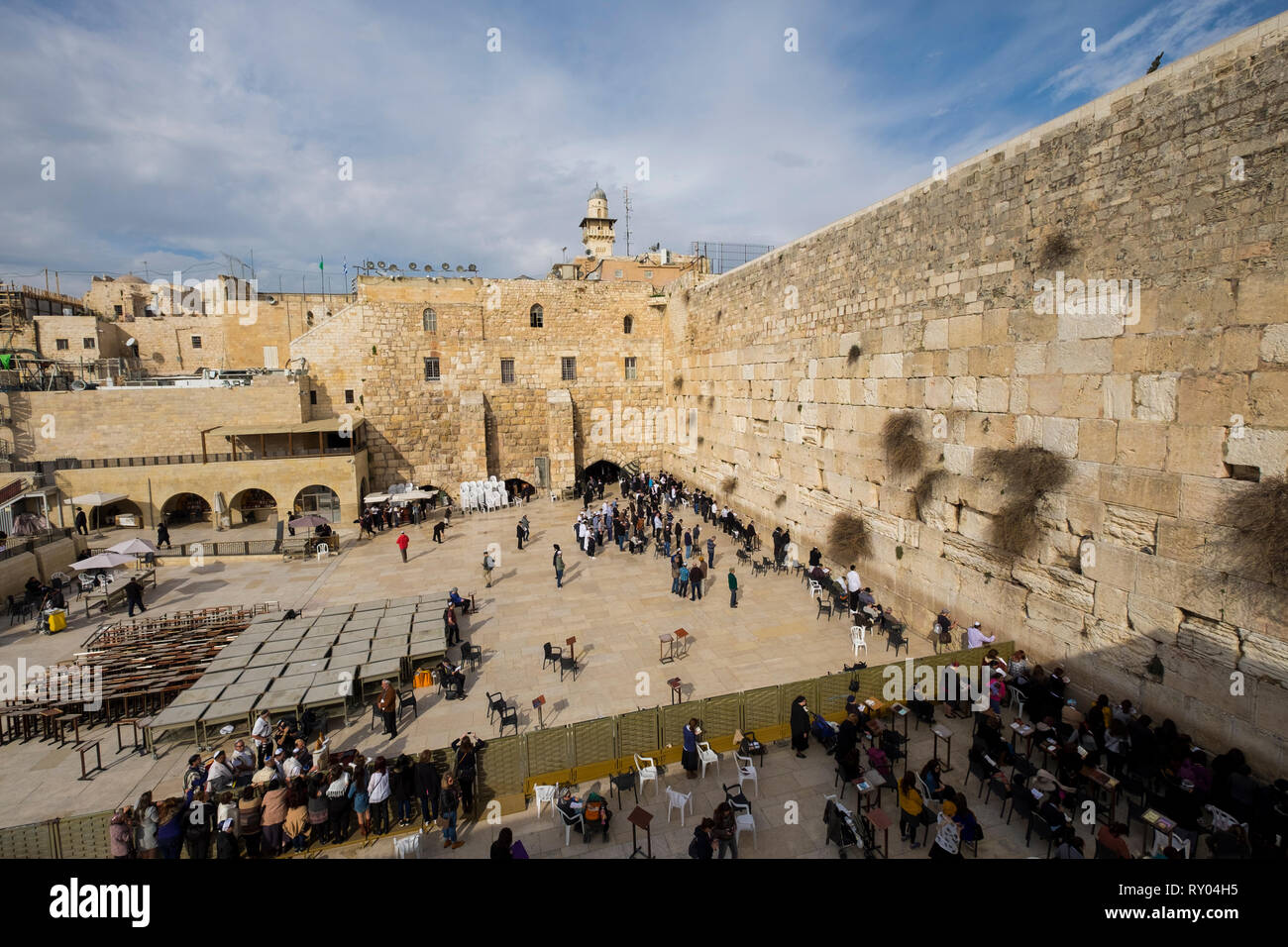 Overview of the Western, Wailing Wall in Jerusalem, Israel. - Stock Image