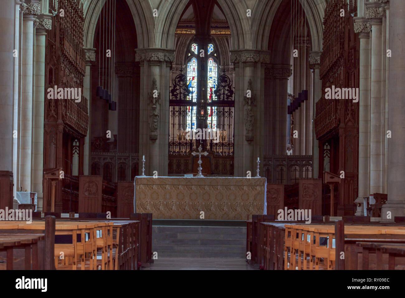 Downside Abbey Church, Somerset UK Stock Photo