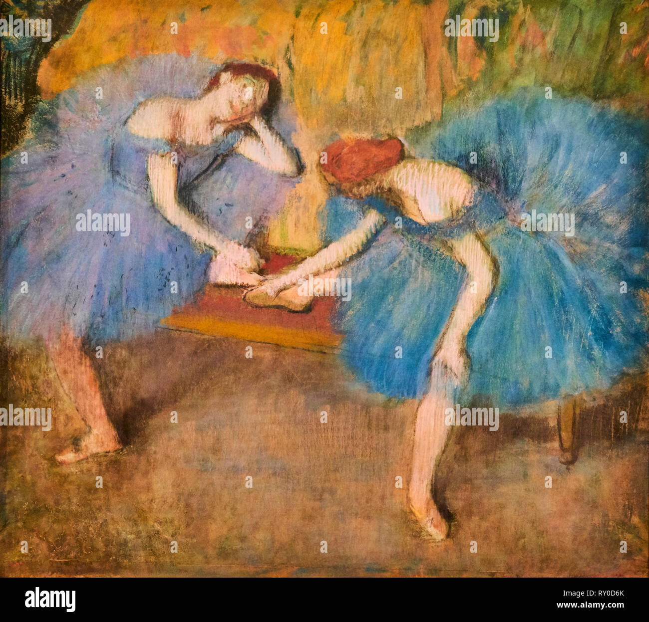 France, Paris, les Tuileries, museum of Orangerie, deux danseuses au repos by Edgar Degas, 1898 - Stock Image