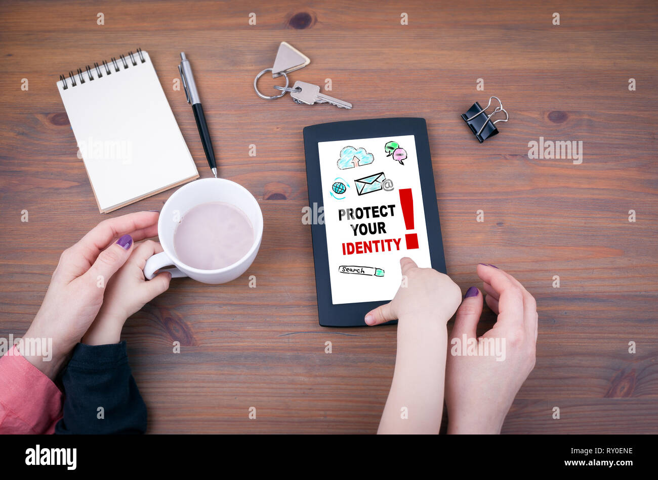 Protect your identity - Stock Image