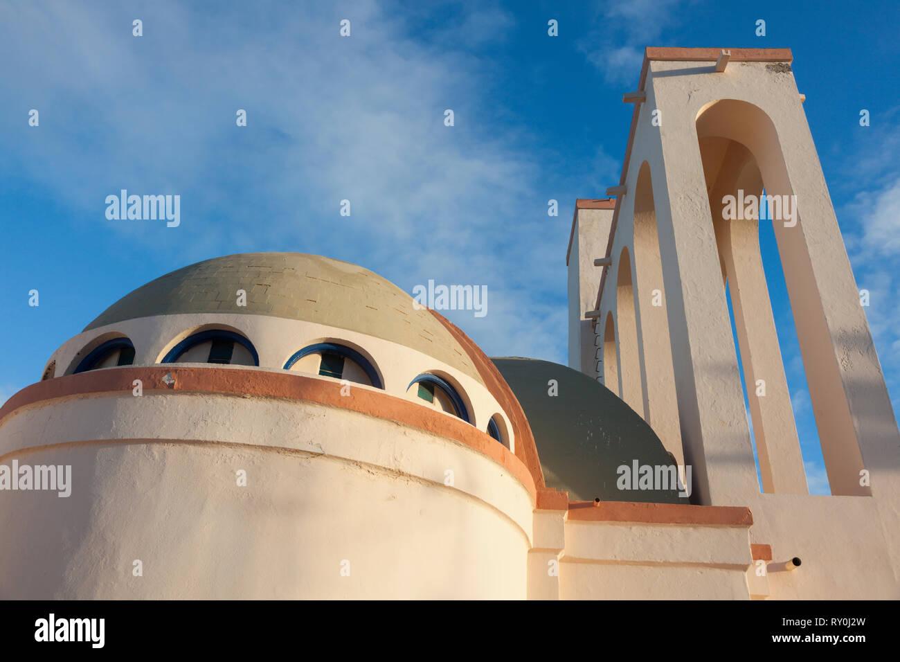 Catholic Church in Dakhla. Dakhla, Western Sahara, Morocco. - Stock Image