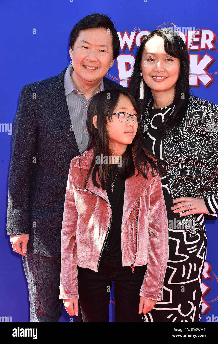 Westwood Ca March 10 Ken Jeong L And Tran Jeong Arrive For The Premiere Of Paramount Pictures Wonder Park Held At Regency Bruin Theatre On Ma Stock Photo Alamy