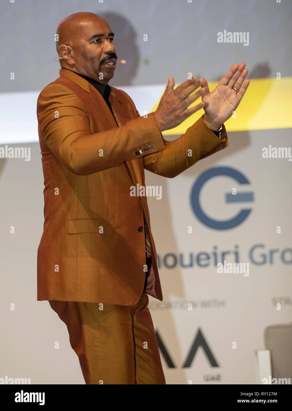 Dubai, United Arab Emirates. 11th Mar, 2019. Steve Harvey, Entrepreneur, Author, Speaker attends Dubai Lynx - International Festival of Creativity, Credit: ifnm/Alamy Live News - Stock Image