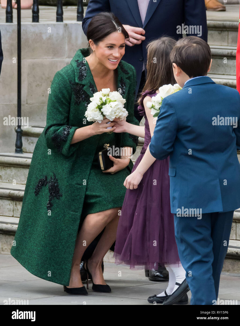 London, UK. 11th Mar 2019. Prince Harry and Meghan Duchess of Sussex co-host event as part of Commonwealth day, celebrating the diverse community of young Canadians living in London and around the UK, at Canada House Credit: Nils Jorgensen/Alamy Live News - Stock Image