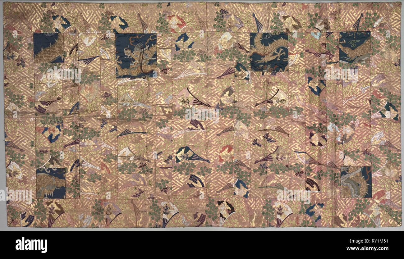 Buddhist Priest Robe (Kesa), 1800s. Japan, Edo period (1615-1868) or Meiji period (1868-1912), 19th century. Silk, brocaded; metal thread; overall: 116.8 x 203.2 cm (46 x 80 in - Stock Image
