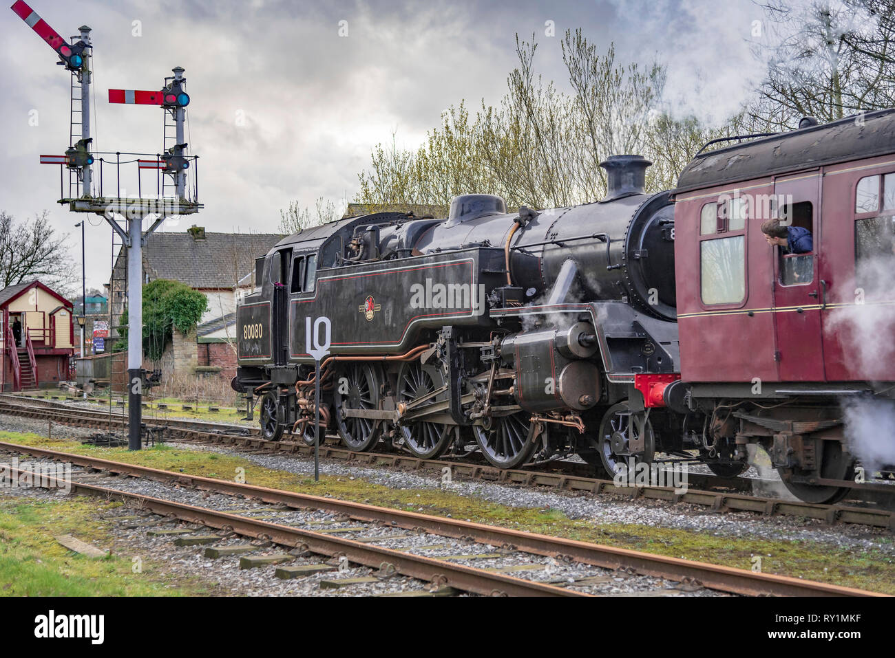 Esat Lancashire railway Spring steam gala 2019. Stock Photo