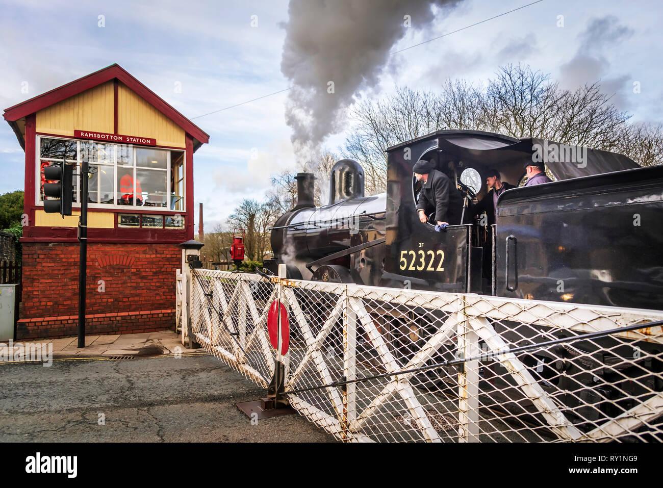 Esat Lancashire railway Spring steam gala 2019. Stock Photo