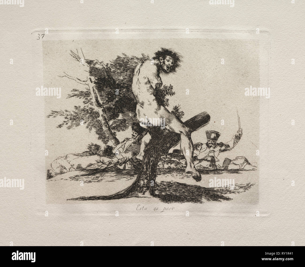 The Horrors of War:  This Is Worse. Francisco de Goya (Spanish, 1746-1828). Etching Stock Photo