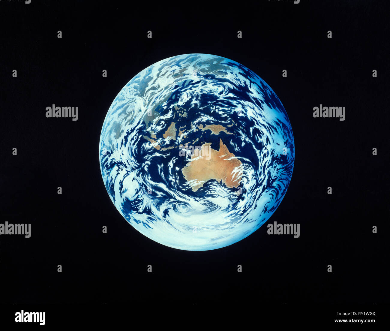 Illustration. Earth from Space. Australia, South East Asia and Antarctica. - Stock Image