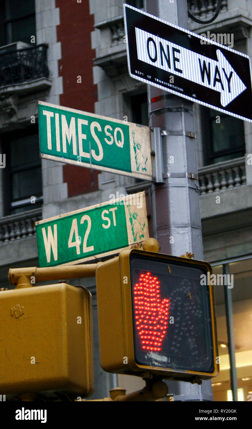 Street signs New York - Stock Image