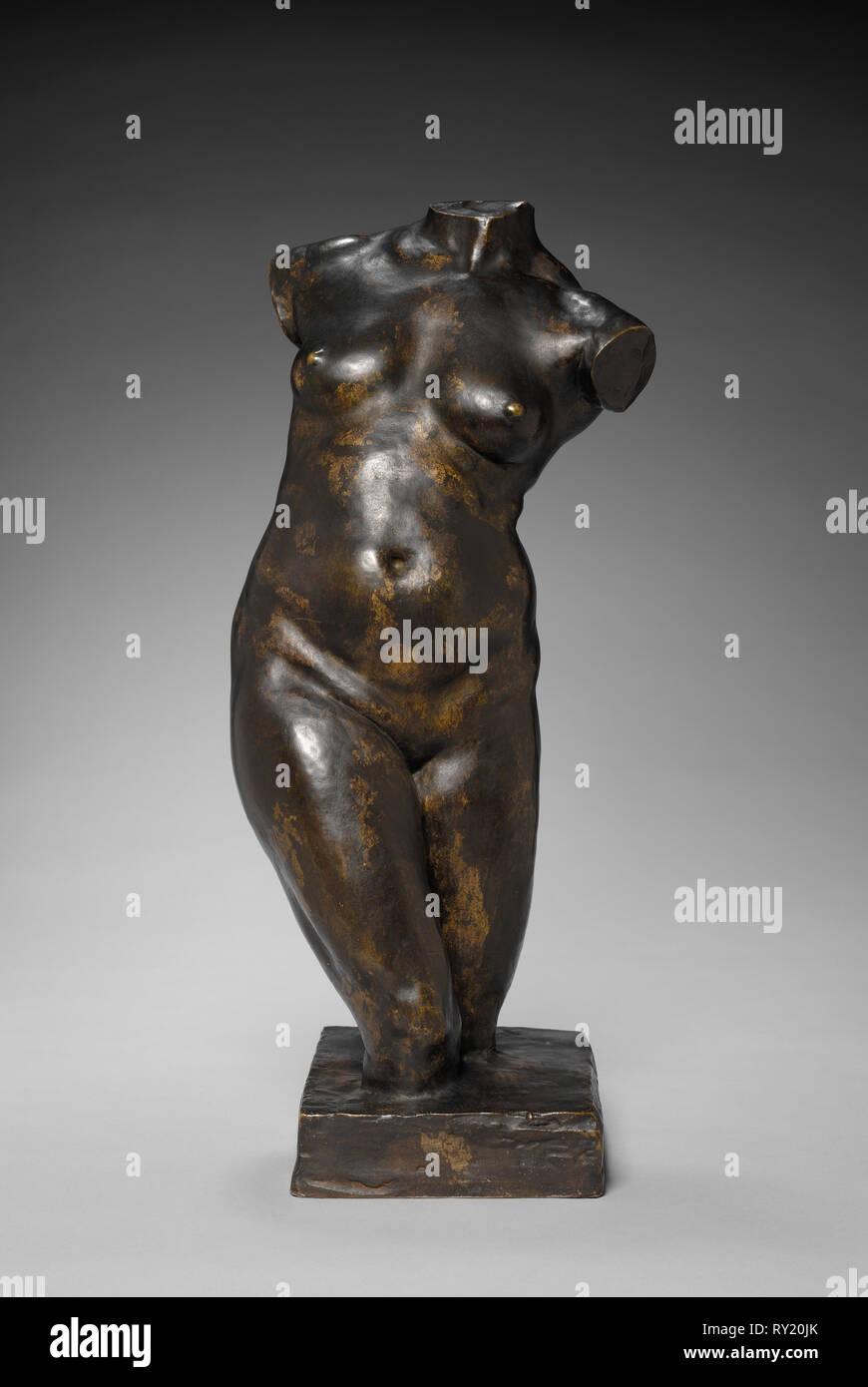 Torso, c. 1850 - 1899. Jules Dalou (French, 1838-1902). Bronze; overall: 49.6 cm (19 1/2 in - Stock Image