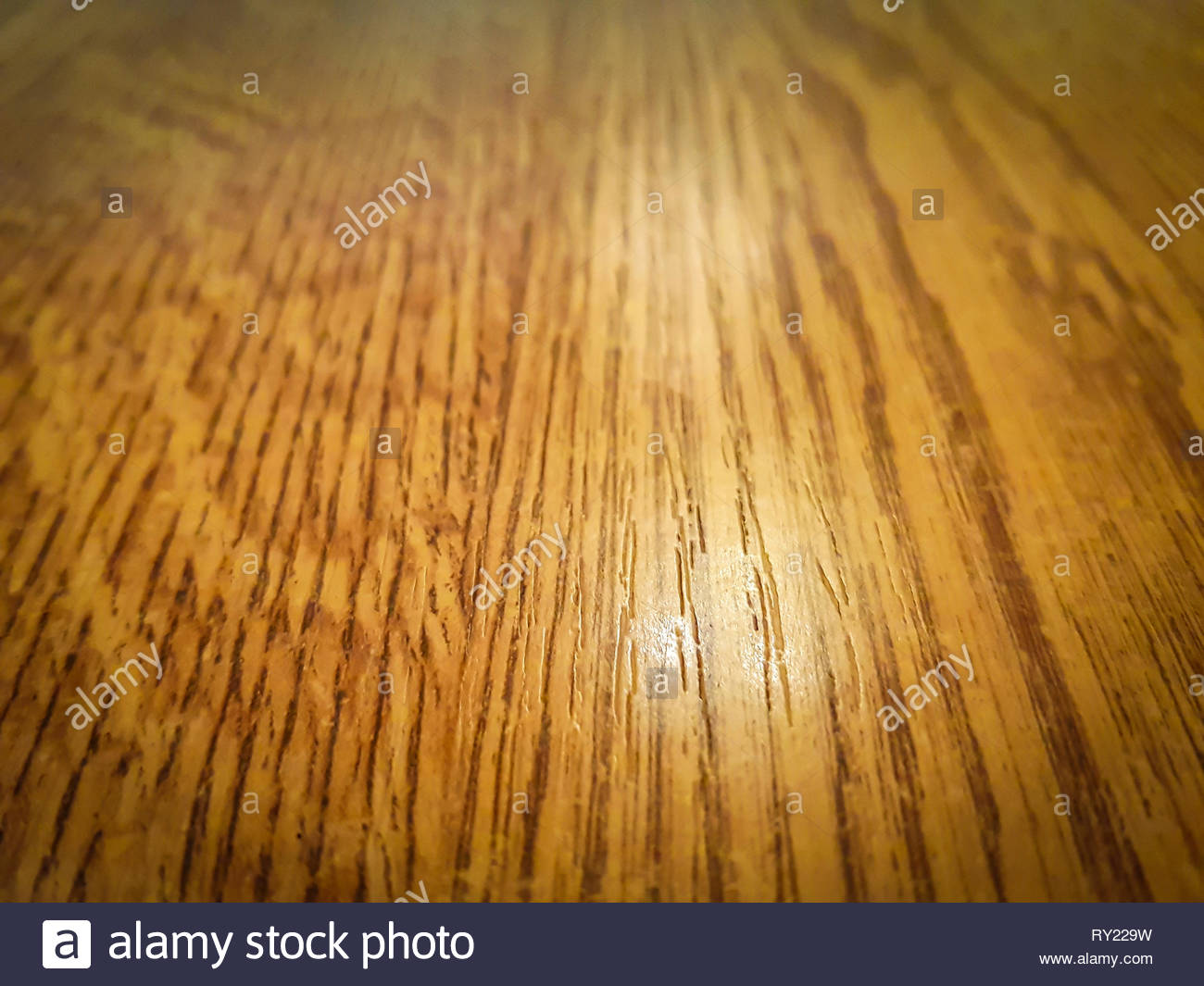 Polished wood floor surface, perspective view - abstract textured background - Stock Image