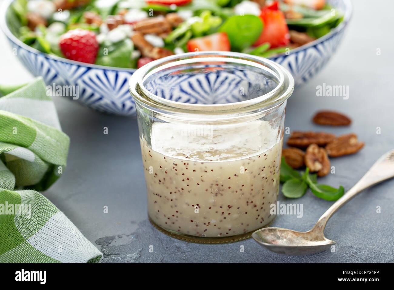 Homemade poppyseed salad dressing - Stock Image