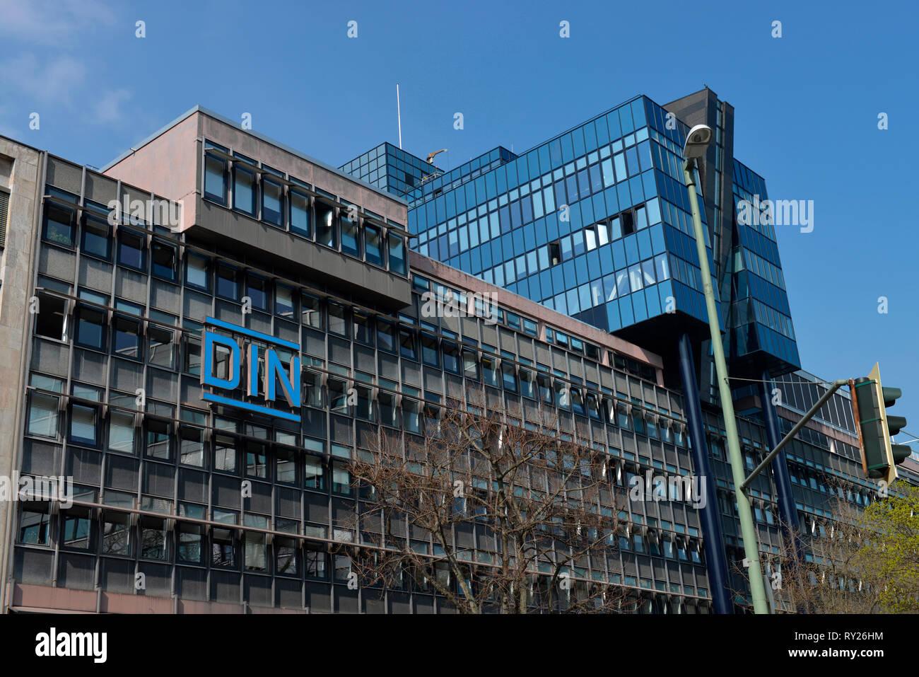 DIN, Burggrafenstrasse, Tiergarten, Mitte, Berlin, Deutschland - Stock Image