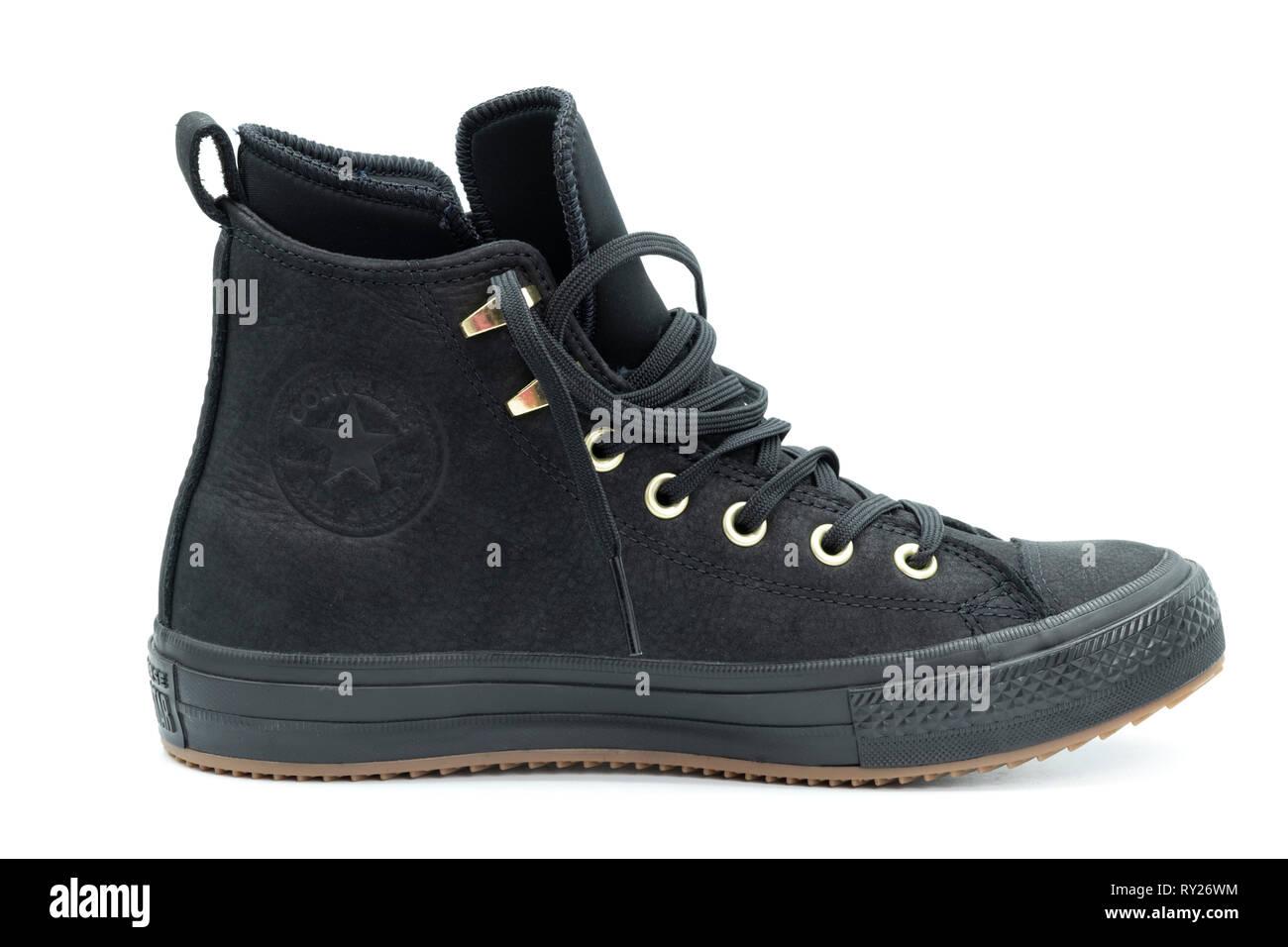 4d5b1a7b6a4b Black Converse Chuck Taylors Stock Photos   Black Converse Chuck ...