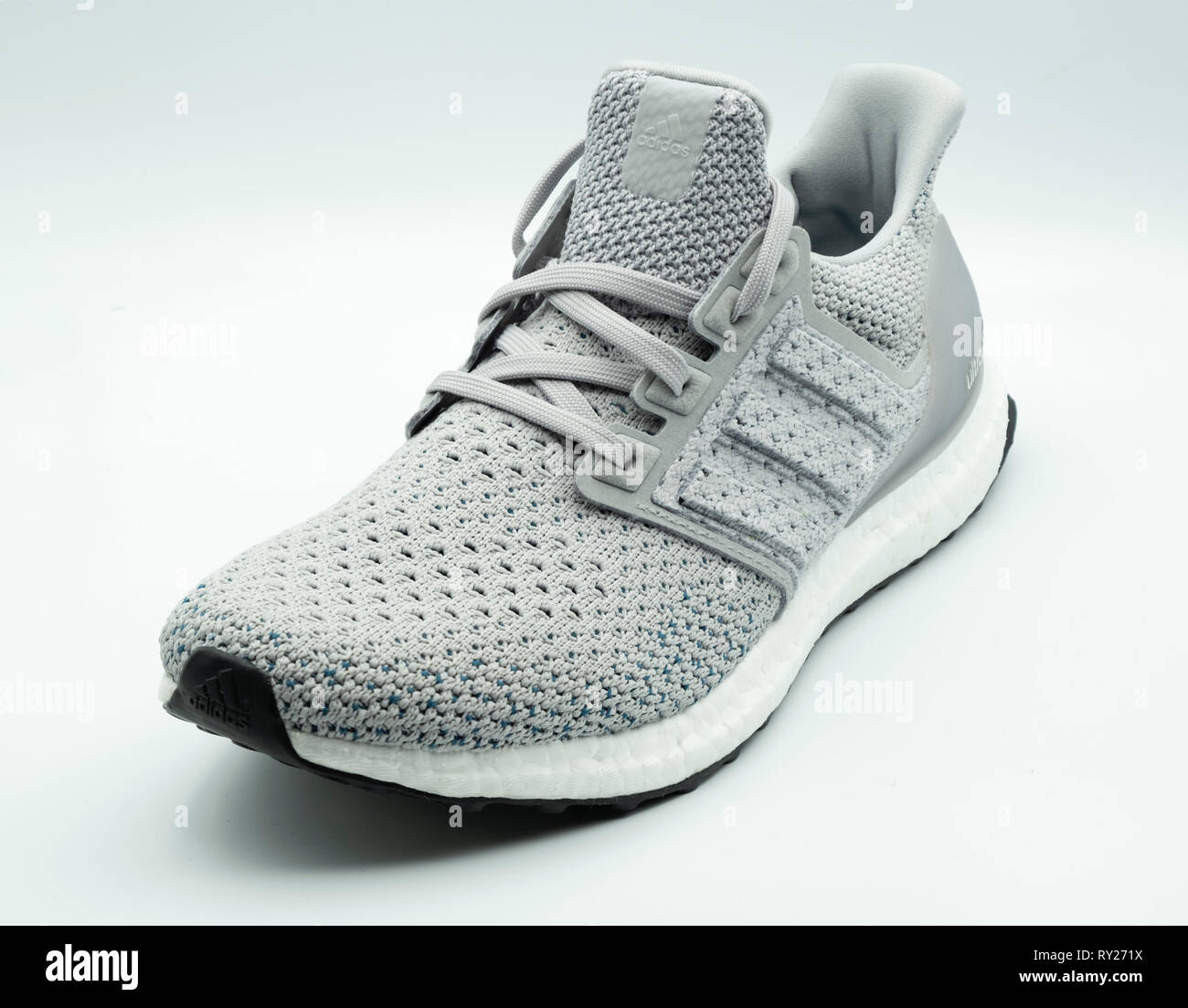 b1d5137e Adidas Ultra Boost clima grey sneaker cutout isolated on white background