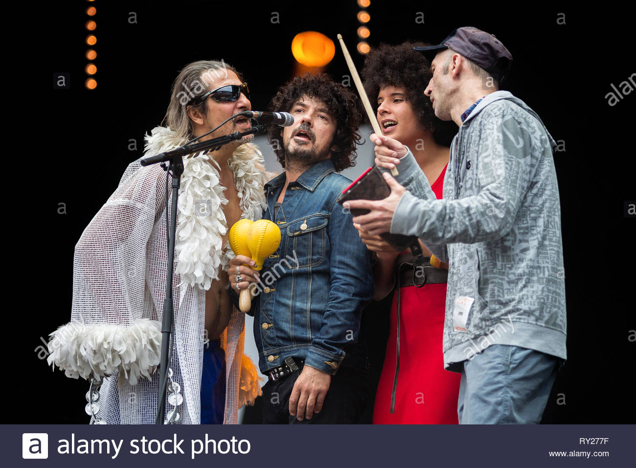 FFF performing live, 12 july 2014 Stock Photo