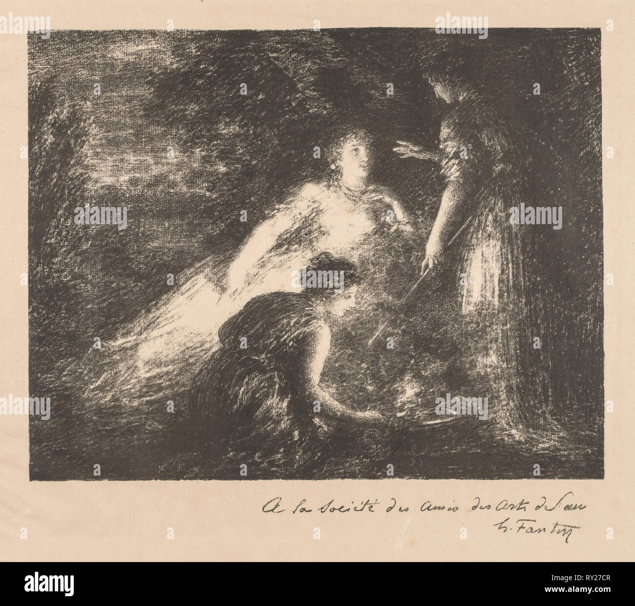 Witchcraft, 1899. Henri Fantin-Latour (French, 1836-1904). Lithograph - Stock Image