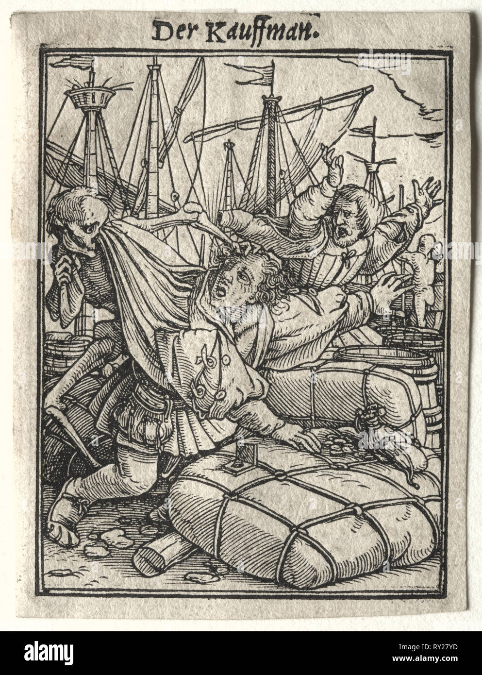 The Merchant. Hans Holbein (German, 1497/98-1543). Woodcut - Stock Image