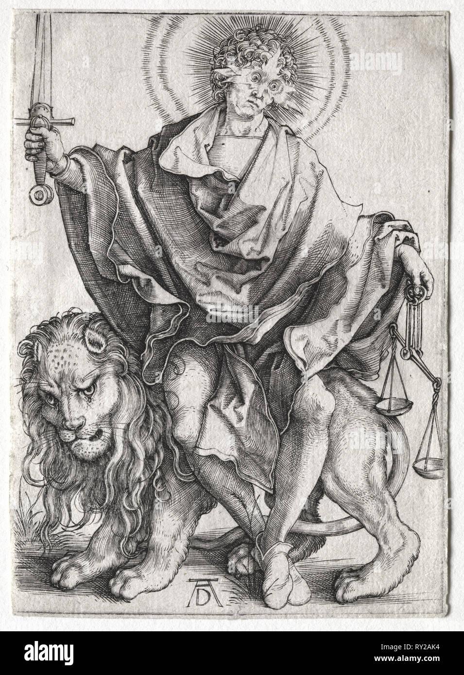 Son of Righteousness, c. 1500. Albrecht Dürer (German, 1471-1528). Engraving - Stock Image