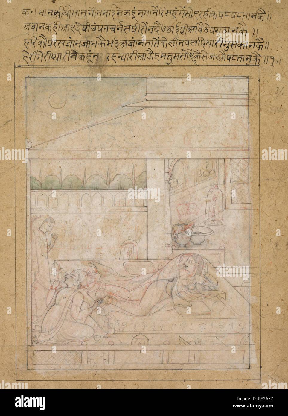 Radha and Krishna's Reconciliation - Stock Image