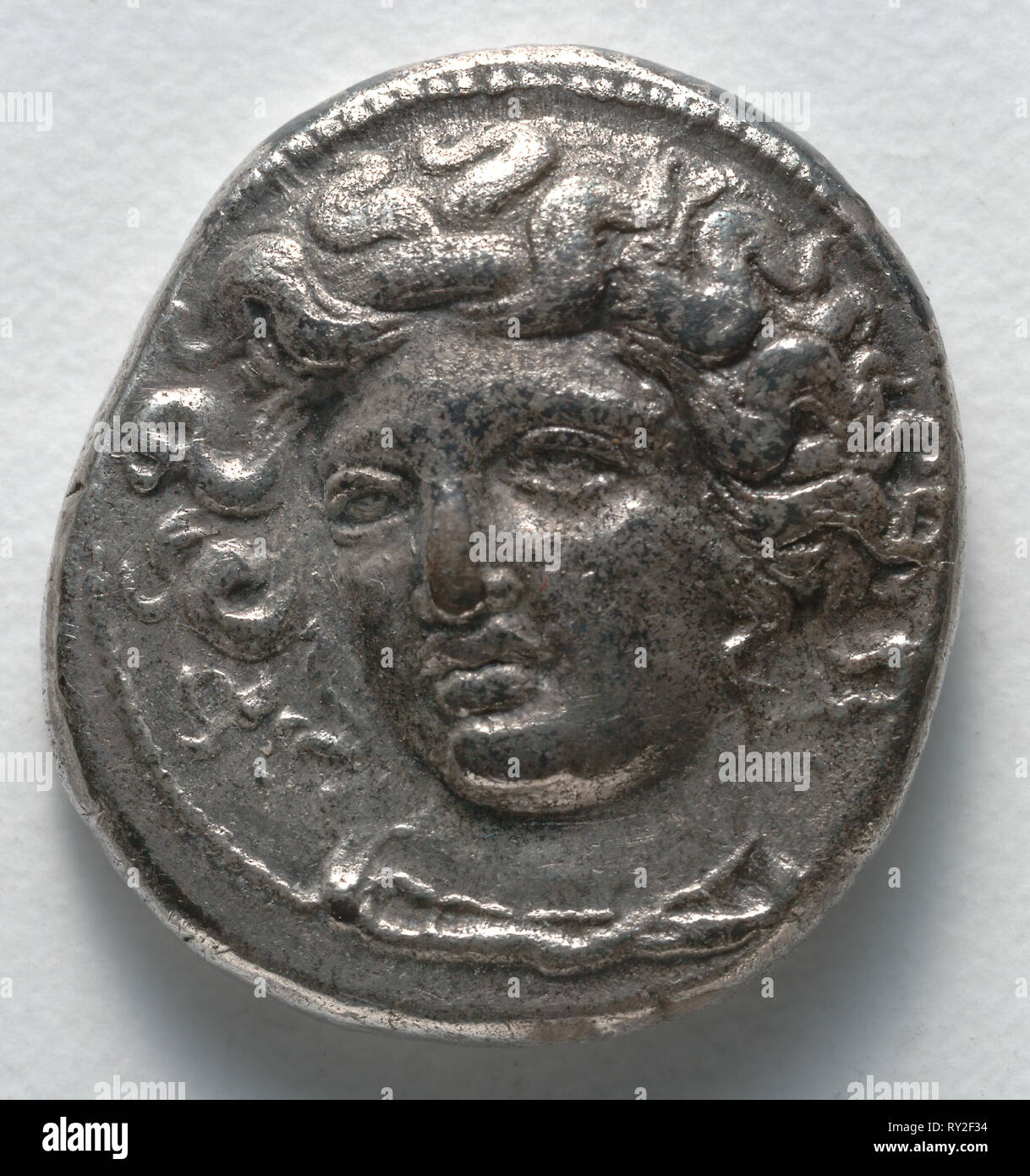 Drachma, 400-344 BC. Greece, Thessaly, 4th century BC. Silver; diameter: 2 cm (13/16 in - Stock Image