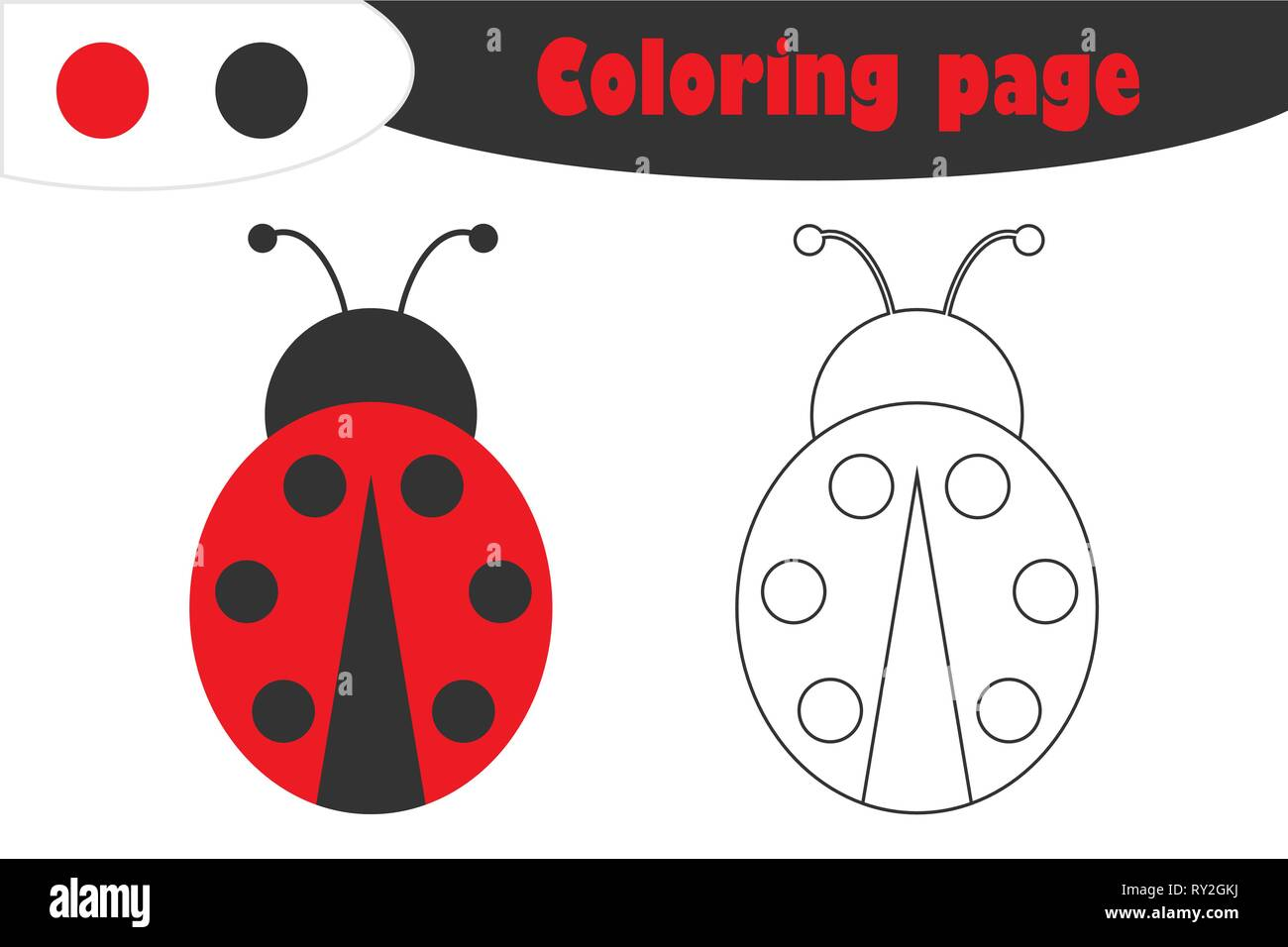 graphic about Printable Ladybug named Ladybug in just cartoon structure, coloring web page, spring schooling
