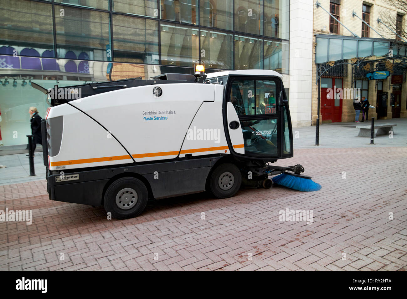 Dublin city council waste services street sweeper cleaning streets Dublin Republic of Ireland Europe Stock Photo