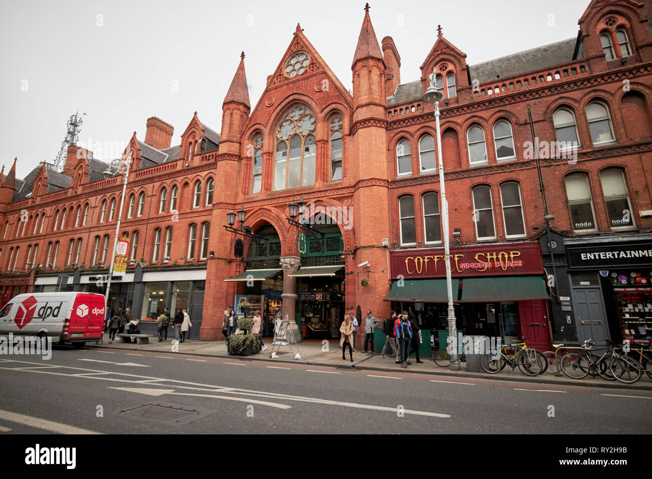 Georges street arcade on south great georges street in the cultural quarter of Dublin former south city markets Republic of Ireland Europe - Stock Image