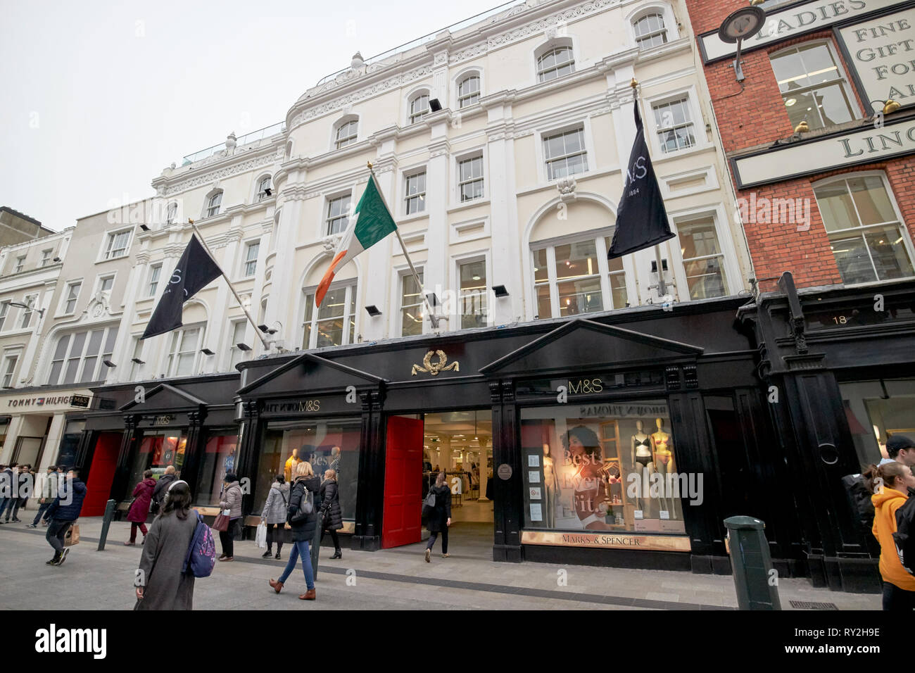marks and spencer flagship store grafton street Dublin Republic of Ireland Europe - Stock Image