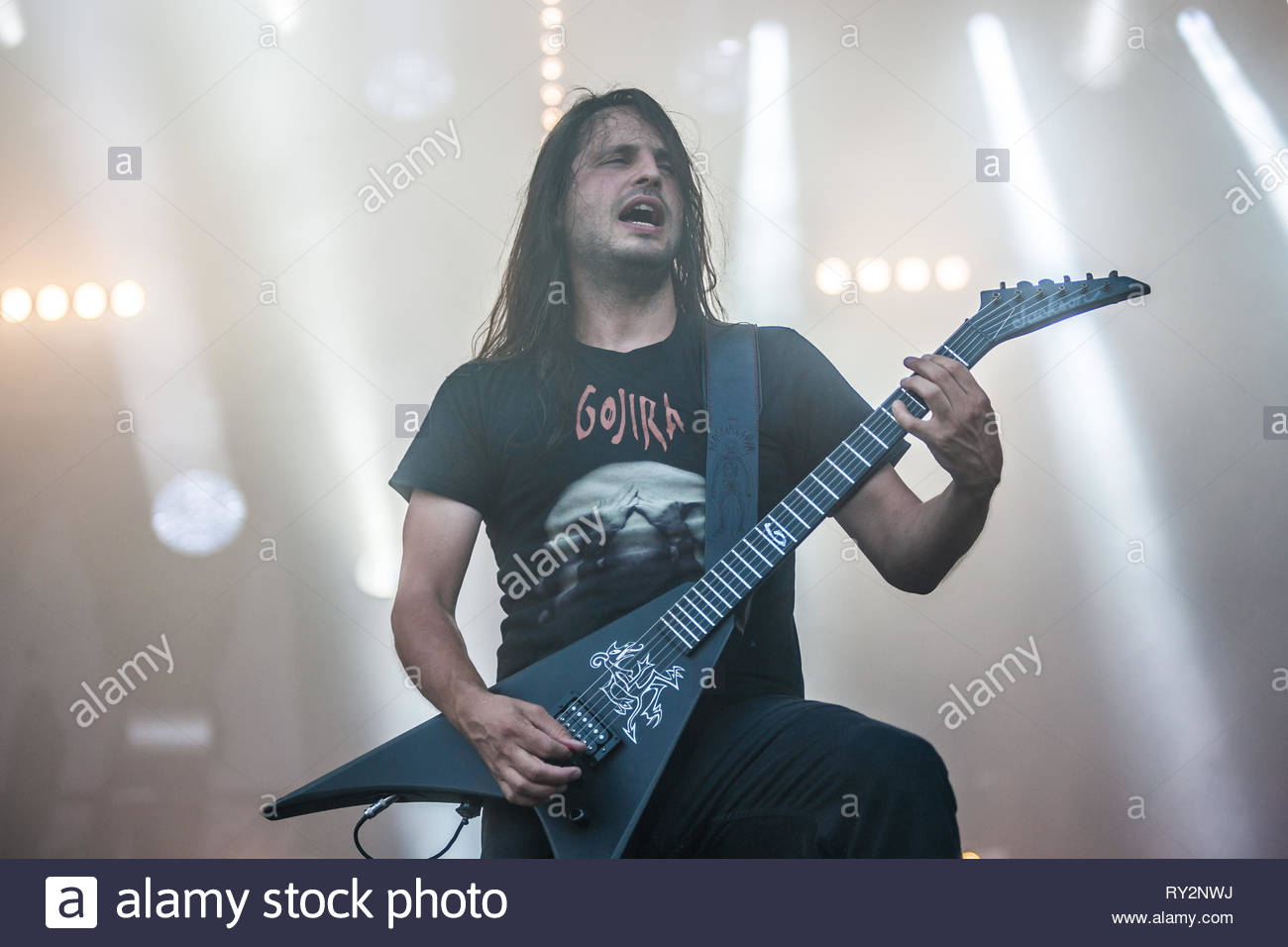 GOJIRA performing live, 10 juillet 2015 Stock Photo