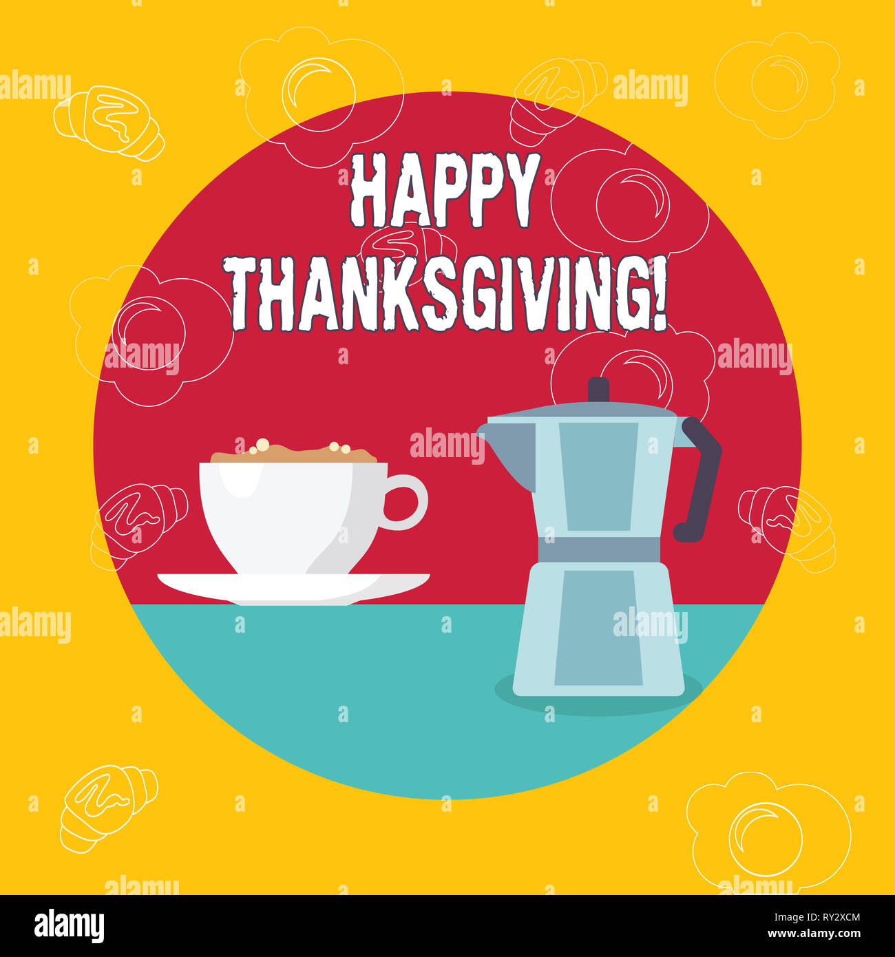 Word writing text Happy Thanksgiving. Business photo showcasing congratulations phrase Holidays - Stock Image
